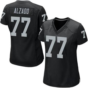 Women's Nike Las Vegas Raiders Lyle Alzado Black Team Color Jersey - Game