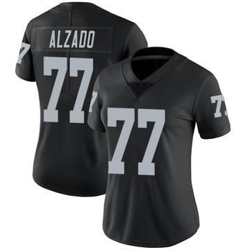 Women's Nike Las Vegas Raiders Lyle Alzado Black Team Color Vapor Untouchable Jersey - Limited