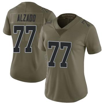 Women's Nike Las Vegas Raiders Lyle Alzado Green 2017 Salute to Service Jersey - Limited