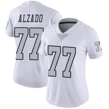 Women's Nike Las Vegas Raiders Lyle Alzado White Color Rush Jersey - Limited