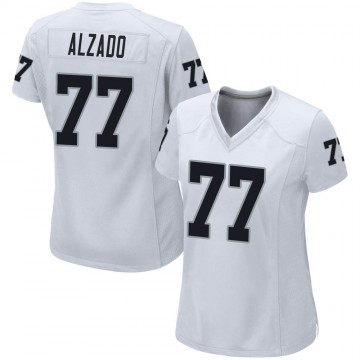 Women's Nike Las Vegas Raiders Lyle Alzado White Jersey - Game