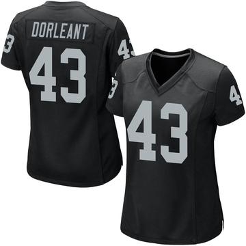 Women's Nike Las Vegas Raiders Makinton Dorleant Black Team Color Jersey - Game