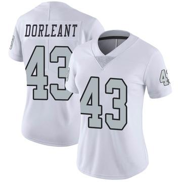 Women's Nike Las Vegas Raiders Makinton Dorleant White Color Rush Jersey - Limited