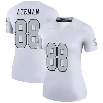 Women's Nike Las Vegas Raiders Marcell Ateman White Color Rush Jersey - Legend