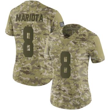 Women's Nike Las Vegas Raiders Marcus Mariota Camo 2018 Salute to Service Jersey - Limited