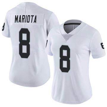 Women's Nike Las Vegas Raiders Marcus Mariota White Vapor Untouchable Jersey - Limited