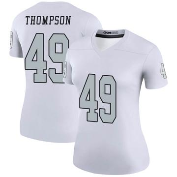 Women's Nike Las Vegas Raiders Mark Thompson White Color Rush Jersey - Legend