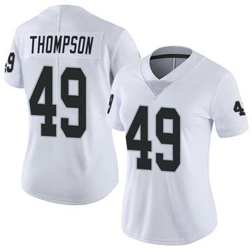 Women's Nike Las Vegas Raiders Mark Thompson White Vapor Untouchable Jersey - Limited