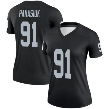 Women's Nike Las Vegas Raiders Mike Panasiuk Black Jersey - Legend