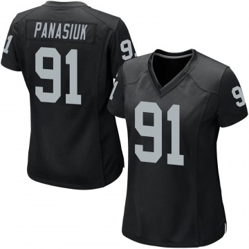 Women's Nike Las Vegas Raiders Mike Panasiuk Black Team Color Jersey - Game
