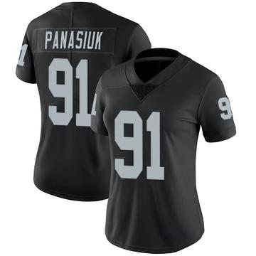 Women's Nike Las Vegas Raiders Mike Panasiuk Black Team Color Vapor Untouchable Jersey - Limited