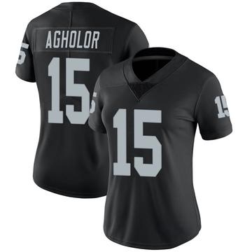 Women's Nike Las Vegas Raiders Nelson Agholor Black Team Color Vapor Untouchable Jersey - Limited