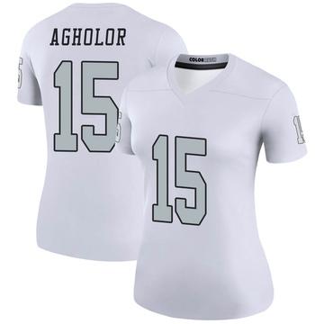 Women's Nike Las Vegas Raiders Nelson Agholor White Color Rush Jersey - Legend