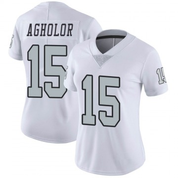Women's Nike Las Vegas Raiders Nelson Agholor White Color Rush Jersey - Limited