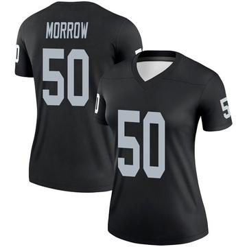 Women's Nike Las Vegas Raiders Nicholas Morrow Black Jersey - Legend