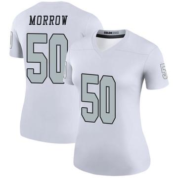Women's Nike Las Vegas Raiders Nicholas Morrow White Color Rush Jersey - Legend