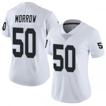 Women's Nike Las Vegas Raiders Nicholas Morrow White Vapor Untouchable Jersey - Limited