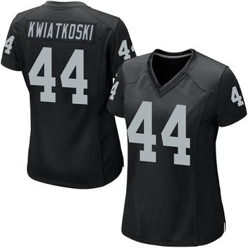 Women's Nike Las Vegas Raiders Nick Kwiatkoski Black Team Color Jersey - Game