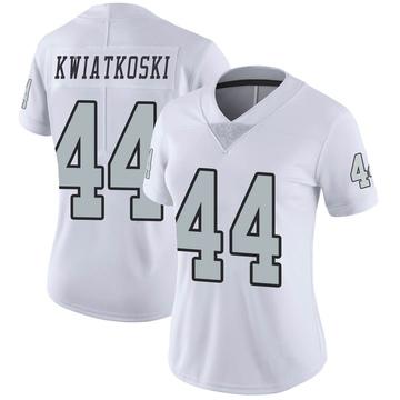 Women's Nike Las Vegas Raiders Nick Kwiatkoski White Color Rush Jersey - Limited