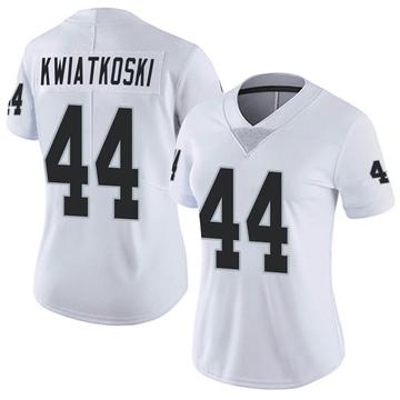 Women's Nike Las Vegas Raiders Nick Kwiatkoski White Vapor Untouchable Jersey - Limited