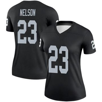 Women's Nike Las Vegas Raiders Nick Nelson Black Jersey - Legend