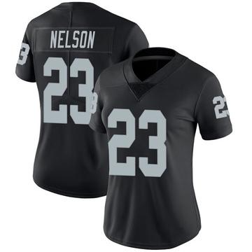 Women's Nike Las Vegas Raiders Nick Nelson Black Team Color Vapor Untouchable Jersey - Limited