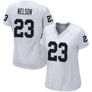 Women's Nike Las Vegas Raiders Nick Nelson White Jersey - Game