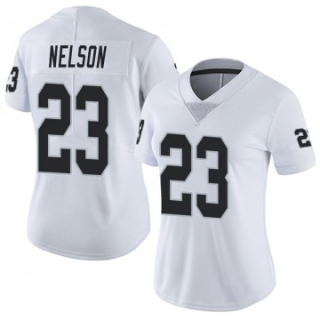 Women's Nike Las Vegas Raiders Nick Nelson White Vapor Untouchable Jersey - Limited