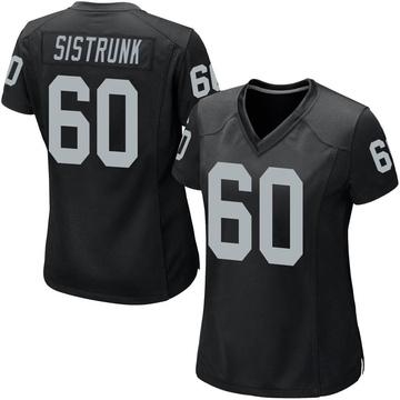 Women's Nike Las Vegas Raiders Otis Sistrunk Black Team Color Jersey - Game