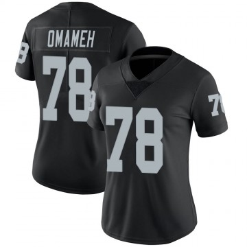 Women's Nike Las Vegas Raiders Patrick Omameh Black 100th Vapor Jersey - Limited