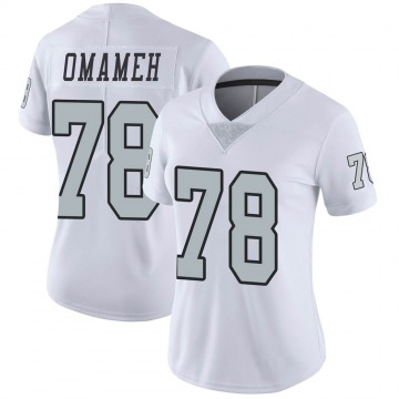 Women's Nike Las Vegas Raiders Patrick Omameh White Color Rush Jersey - Limited