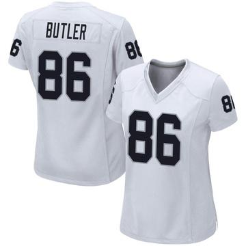 Women's Nike Las Vegas Raiders Paul Butler White Jersey - Game
