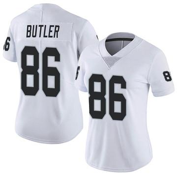 Women's Nike Las Vegas Raiders Paul Butler White Vapor Untouchable Jersey - Limited