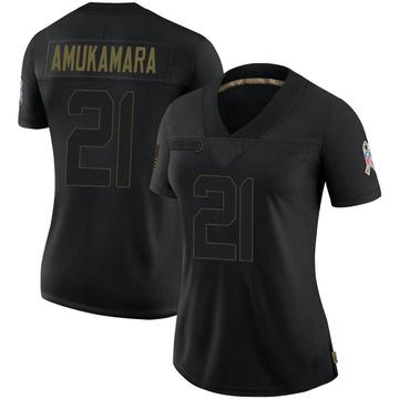 Women's Nike Las Vegas Raiders Prince Amukamara Black 2020 Salute To Service Jersey - Limited