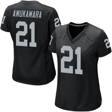 Women's Nike Las Vegas Raiders Prince Amukamara Black Team Color Jersey - Game