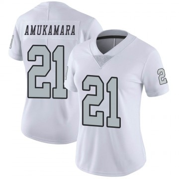 Women's Nike Las Vegas Raiders Prince Amukamara White Color Rush Jersey - Limited