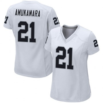 Women's Nike Las Vegas Raiders Prince Amukamara White Jersey - Game