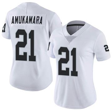 Women's Nike Las Vegas Raiders Prince Amukamara White Vapor Untouchable Jersey - Limited