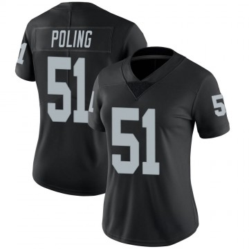 Women's Nike Las Vegas Raiders Quentin Poling Black 100th Vapor Jersey - Limited