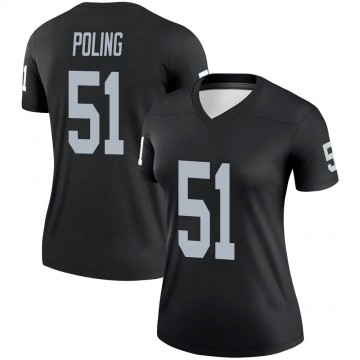 Women's Nike Las Vegas Raiders Quentin Poling Black Jersey - Legend