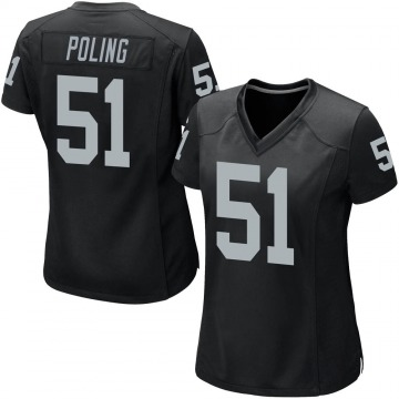 Women's Nike Las Vegas Raiders Quentin Poling Black Team Color Jersey - Game