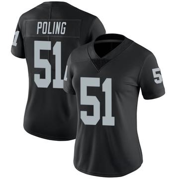 Women's Nike Las Vegas Raiders Quentin Poling Black Team Color Vapor Untouchable Jersey - Limited