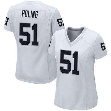 Women's Nike Las Vegas Raiders Quentin Poling White Jersey - Game