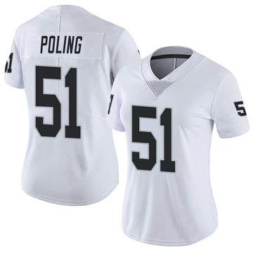 Women's Nike Las Vegas Raiders Quentin Poling White Vapor Untouchable Jersey - Limited
