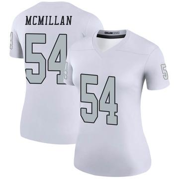 Women's Nike Las Vegas Raiders Raekwon McMillan White Color Rush Jersey - Legend