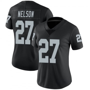 Women's Nike Las Vegas Raiders Reggie Nelson Black Team Color Vapor Untouchable Jersey - Limited