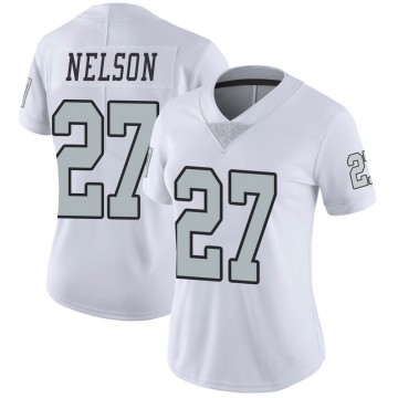 Women's Nike Las Vegas Raiders Reggie Nelson White Color Rush Jersey - Limited