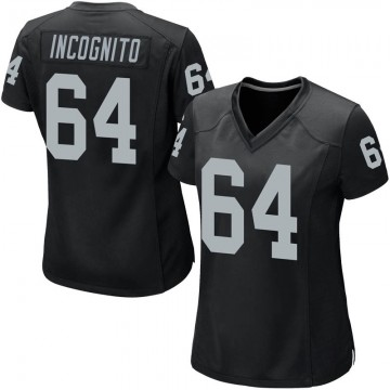 Women's Nike Las Vegas Raiders Richie Incognito Black Team Color Jersey - Game