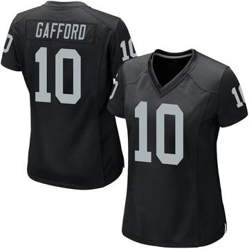 Women's Nike Las Vegas Raiders Rico Gafford Black Team Color Jersey - Game
