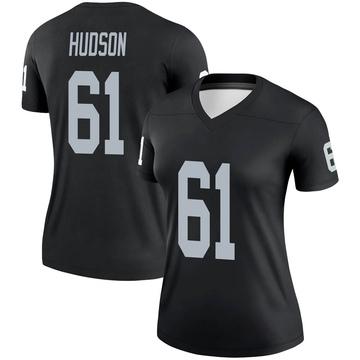 Women's Nike Las Vegas Raiders Rodney Hudson Black Jersey - Legend